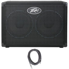 "Peavey Headliner 210 2x10"" 8 Ohms Bass Guitar Amp Extension Cabinet +FREE Cable"