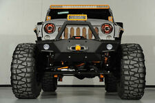 07-16 Jeep Wrangler JK Rock Crawler Front Bumper+OE Fog Light Mount+Winch Plate