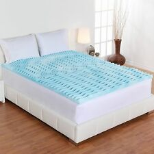 "Full Size Gel Pad 2"" Inch Cover Firm Bed Orthopedic Foam Mattress Topper Sleep"