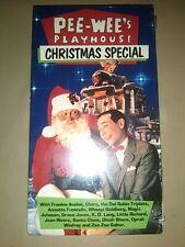 MISB Pee-Wees Playhouse Christmas Special VHS 89 mint sealed NOS Oprah Goldberg