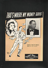 That's Where My Money Goes 1937 Joe Sanders