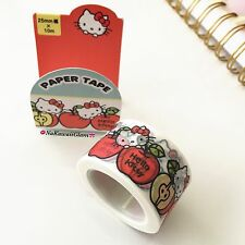 JAPAN SANRIO HELLO KITTY WASHI PAPER  DECO MASKING TAPE (USA SELLER)