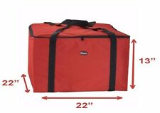 "NEW Insulated Thermal Pizza Food Pizza Delivery Bag, 22"" x 22"" x 13"""