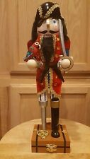 "Home Accents Limited Edition 14"" Wooden Detailed Collectible Pirate  Nutcracker"