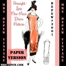 Vintage Sewing Pattern 1920's Flapper One Hour Dress Reproduction Booklet