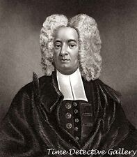 Cotton Mather of the Salem Witch Trials - c1700  - Historic Illustration Print