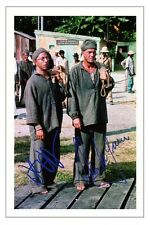 DUSTIN HOFFMAN + STEVE MCQUEEN - PAPILLON SIGNED PHOTO PRINT AUTOGRAPH