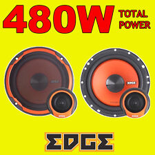 Edge 480W 2WAY total 6.5 pulgadas 16.5cm Puerta Del Coche 2WAY altavoces + Tweeters de componente