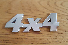 Silver Chrome 3D 4X4 Metal Badge Sticker Emblem for Jeep Grand Cherokee Wrangler