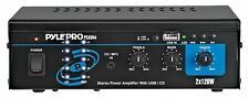 Pyle Home PCAU44 Mini 2 Channel 240 Watt Stereo Power Amplifier USB/CD Input