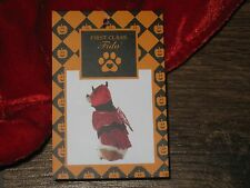 "FIRST CLASS FIDO DEVIL DOG HALLOWEEN COSTUME SATAN SIZE M MD 14"" - 17"" NEW NWT"
