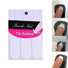 New 240 pcs French Manicure Nail Art Tips Form Guide Sticker Polish DIY Stencil