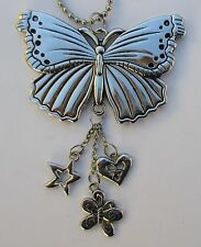 BUTTERFLY ORNAMENT CAR MIRROR CHARM JEWELRY REARVIEW new driver dangle ganz
