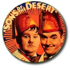 "LAUREL AND HARDY/ SONS OF THE DESERT/ 1""/ 25 mm COMMEMORATIVE  BUTTON BADGE"