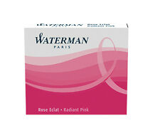 WATERMAN RADIANT PINK  FOUNTAIN PEN  INK CARTRIDGES NEW IN BOX