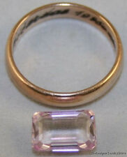 NATURAL LOOSE GEMSTONE PINK KUNZITE 6.5X10.5MM FACETED OCTAGON 3.5CT KU10