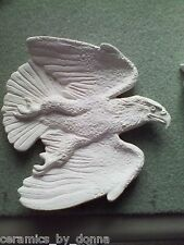 EAGLE TEABAG HOLDER CERAMIC READY to PAINT JEWELRY tray dish spoon Rest