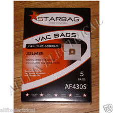 Zelmer V5000, V5500 Solaris Synthetic High Filtration Vac Bags - Part # AF430S
