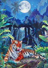 Puzzle..JIGSAW...LASSEN...Eye Of The Tiger..Glitter....500pc..Sealed