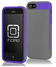 APPLE IPHONE 5 / 5S INCIPIO FAXION CASE - CHARCOAL GRAY AND ROYAL PURPLE