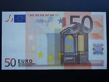 RARE!!! N1 Europe SLOVENIA 50 Euro 2002  H-serie UNC, DRAGHI Sign, Printer R051