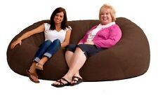Bean Bag Chairs For Adults Brown Memory Foam Suede Sofa Chair 7 Ft XXL Kids Bed