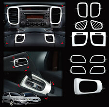 Chrome Interior Molding Kit Garnish Trim Cover 11p For 2006-2010 Kia Rio 4d & 5d