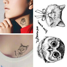 2pcs Owl Tattoo 3d Waterproof Body Art Arm Hand Cat temporary Tatoo Stickers Pop