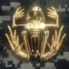 Polished Gold Bone Frog / Navy SEAL Challenge Coin / individually numbered