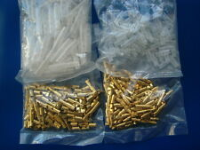 3.9 - 4mm Quality Bullet Connectors 100 Sets - Male and Female with Sleeves