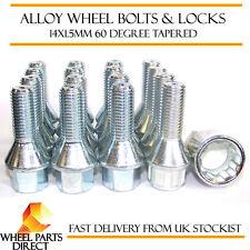 Wheel Bolts & Locks (12+4) 14x1.5 Nuts for Maserati Ghibli S [Mk3] 13-16