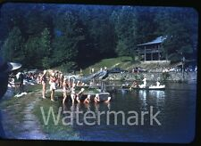 1951 kodachrome photo slide Rockbrook Camp Brevard NC #10 swimmers bathing cap