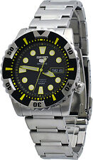 Seiko 5 Sports SNZJ15 Men's Stainless Steel Black Dial 23 Jewels Automatic Watch