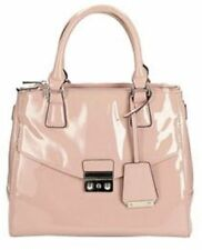 Ladies Clarks dusty pink patent synthetic hand bag Marley Cara