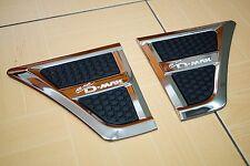 ISUZU ALL NEW D-MAX 2012-2015 PAIR FRONT CHROME/BLACK WHEEL ARCH TRIM