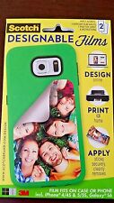 Scotch iPhone 4/4S, 5/5S, Galaxy S6 Designable Films Cutomize Your Case 2 Pack