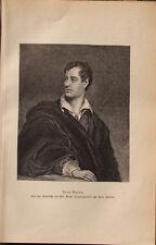 Lord Byron - George Gordon Byron - nach Thomas Phillips - Original 1883