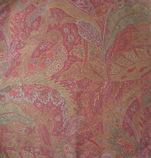 CLARENCE HOUSE ETRO Feuillage Leaf Red Paisley Italy Remnant New