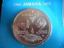 Jamaica Sterling Silver 10 Dollar Coin 10th Anniversary Of Independence Unc
