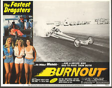 FUEL INJECTED DRAGSTER original 1979 lobby movie poster AUTO RACING/TERRY HUDSON