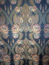 3.7 Mtrs + Thick & Heavy Embroidered Art Nouveau Curtain/Upholstery Fabric