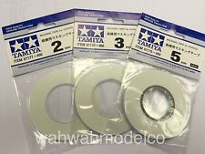 3pcs Set Tamiya Model Tools Masking Tape for Curves (87177 87178 87179)