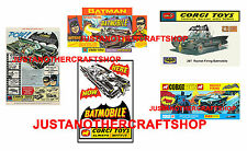 Corgi toys 267 batman batmobile lot de 5 affiches tracts publicités shop signes