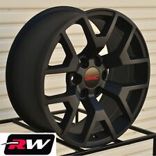 "2014 GMC Sierra 1500 Wheels 22"" inch 22x9"" Matte Black Rims 6x5.50"" & Lug Nuts"