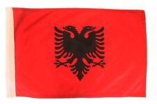 "ALBANIA COUNTRY 12"" X 18"" INCH CAR STICK FLAG BANNER WITHOUT POLE .. NEW"