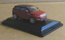 OXFORD DIECAST RANGE ROVER EVOQUE FIRENZE RED TWO DOOR MODEL CAR 1:76 SCALE