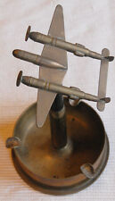 """WWII Trench Art 10"""" High P-38 Aircraft Made From Old Bullets & Shell Casings"""