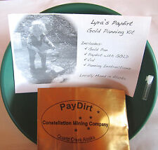 Gold Panning Kit - Garret Gold Pan, Vial, and 1lb of pay dirt - Gold Guaranteed!
