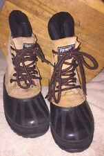 Ranger Thermolite Winter Duck Boots Size 4 Leather Rubber Laces Boys