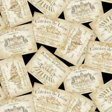 WINE ~ French Vintage Wine Labels -  You Had Me at Merlot~ Fabric ~ 1/2 yard